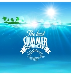 Vacation summer holidays and travel design vector image