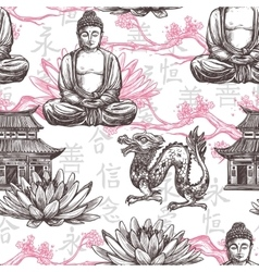 Asian Seamless Pattern vector image