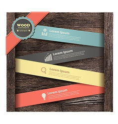 Banner on wood background vector image vector image