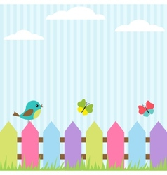 bird and butterflies vector image