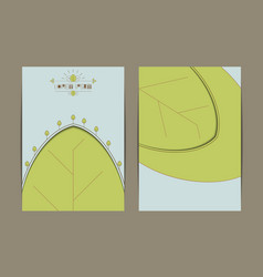 business eco card template vector image vector image