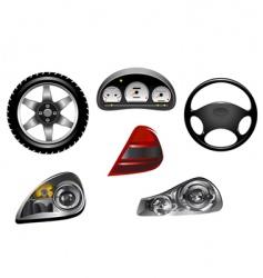 car design details vector image vector image