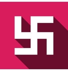 Flat Swastika icon vector image