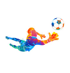 goalkeeper ball abstract vector image