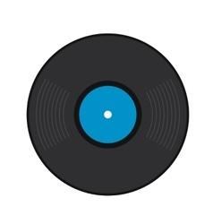Retro vinyl record flat icon vector image