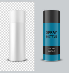 3d realistic white blank spray can spray vector image