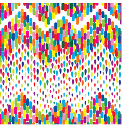 Abstract dot tiled pattern spot zig zag ornament vector