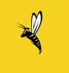 Aggressive bee or wasp mascot design template vector
