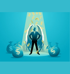Angel investor concept vector