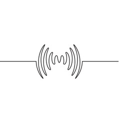 Audio sound wave music waveform pulse vector