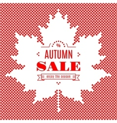 Autumn sale banner Background Maple Leaf Fall vector image
