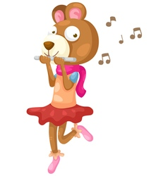 bear music vector image