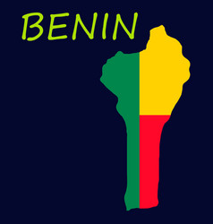 Benin map with flag vector