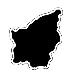 black silhouette of the country san marino with vector image