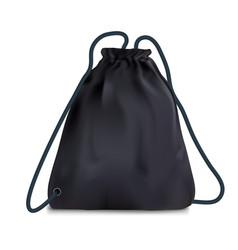 Black sport backpack bag vector