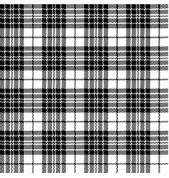 blackberry tartan clan black white pixel seamless vector image