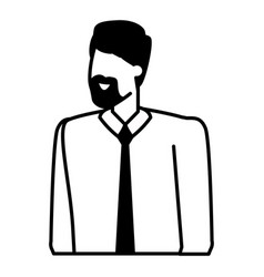 businessman character portrait on white background vector image