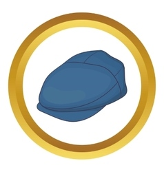 Cap driver icon vector