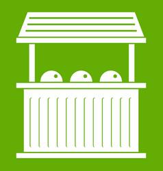 Carnival fair booth icon green vector