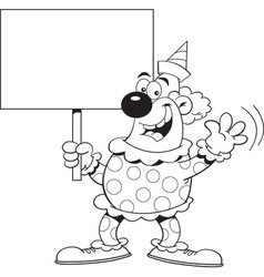Cartoon clown holding a sign vector image