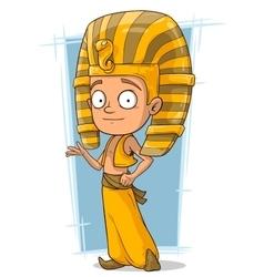 Cartoon little Pharaoh boy from Egypt vector image