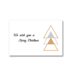 christmas card template christmas tree with text vector image