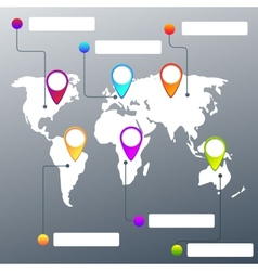 collection map pointers and world map vector image