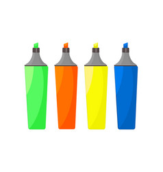 Colorful marker pens vector