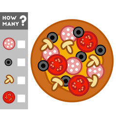 counting game for children count how many pizza vector image