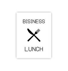 cover template for business lunch fork and knife vector image