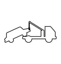 crane service truck icon vector image