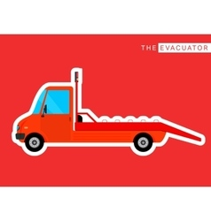 Evacuator truck isolated vector