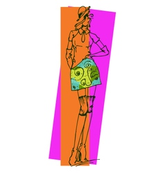 Fashion Figure 2 vector