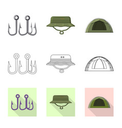 fish and fishing icon vector image