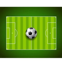 Football field with ball background design vector