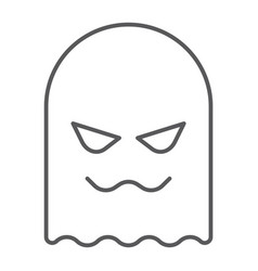 ghost thin line icon horror and character horror vector image