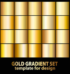Gold foil texture background set realistic vector