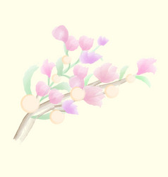 hand paint watercolor flower vector image