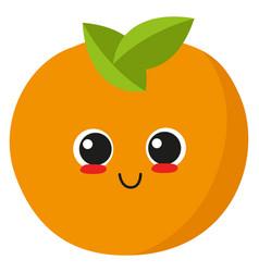 happy orange on white background vector image