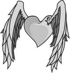 Heart n wings vector