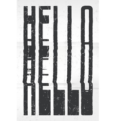 Hello glitch art typographic poster Glitchy word vector image