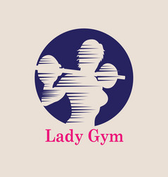 Lady gym logo vector
