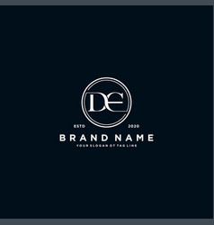 Letter de logo design vector