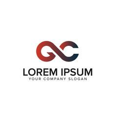 letter gc logo design concept template vector image