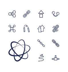 Link icons vector