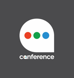 Logo for conferences symbol post the vector