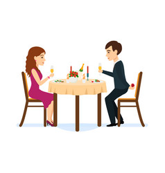 male wants make offer girl in romantic atmosphere vector image