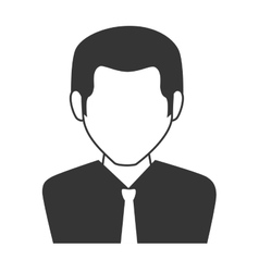 Man guy boy person suit tie face head icon vector