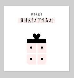 merry christmas present vector image