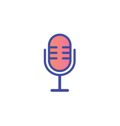 microphone icon sign symbol vector image